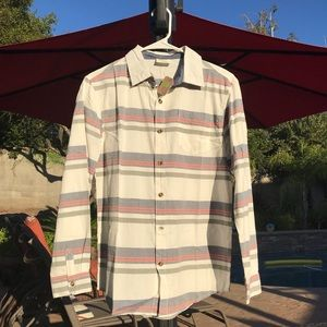 Crazy 8 boys striped long sleeve buttoned shirt